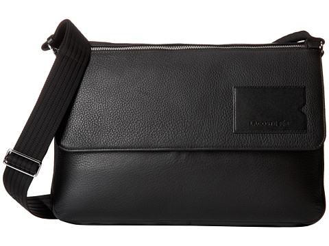 Lacoste - Classic Premium Messenger Bag (Black Peacoat) Messenger Bags