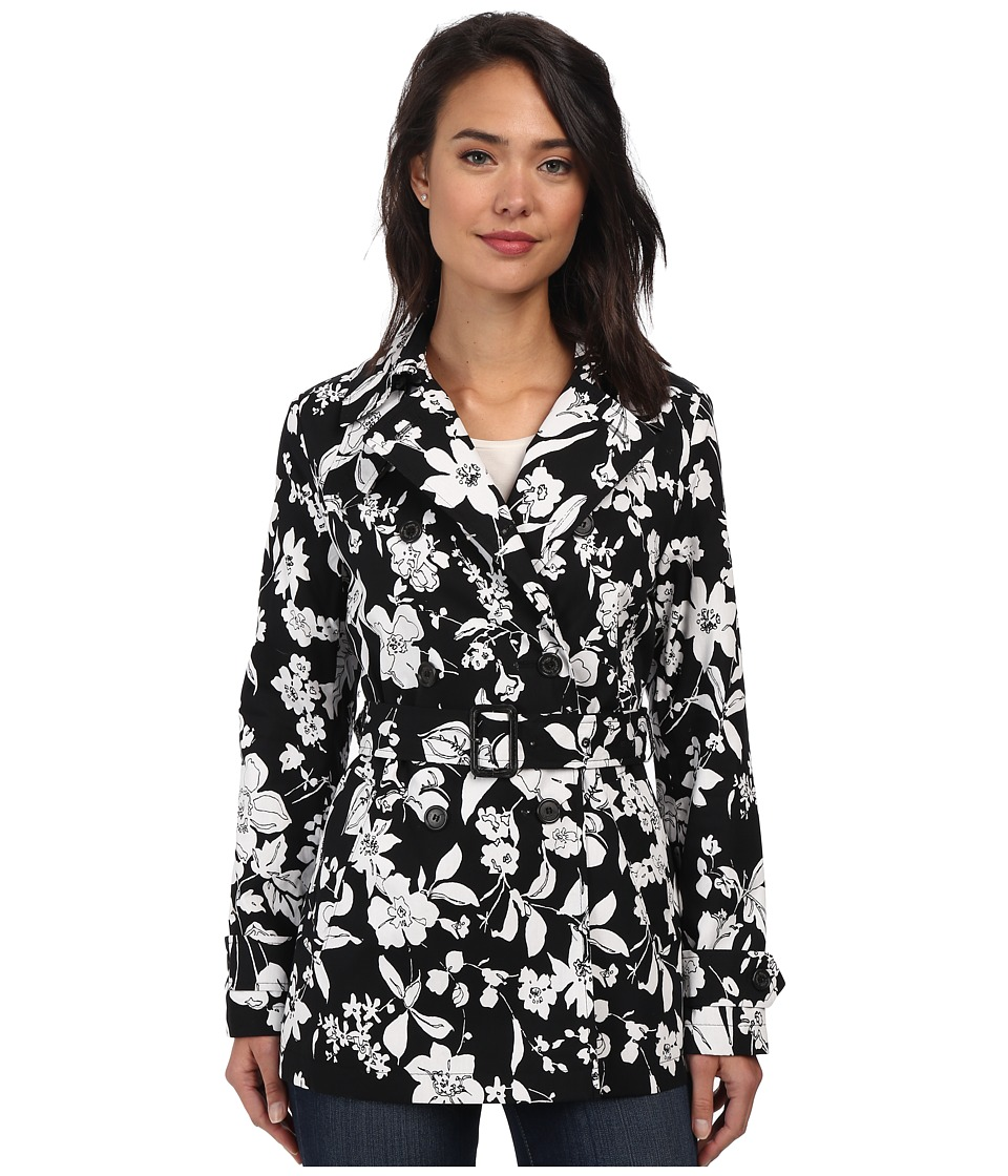 LAUREN by Ralph Lauren - Floral Trench (Black/White) Women