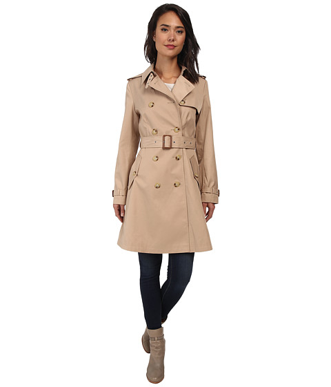 LAUREN by Ralph Lauren - Skirted Trench (Racing Khaki) Women's Coat