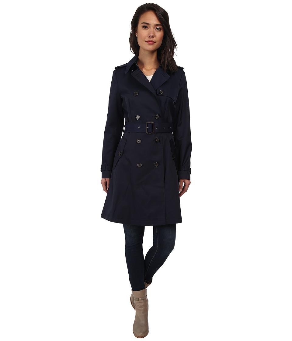 LAUREN by Ralph Lauren - Skirted Trench (Capri Navy) Women's Coat