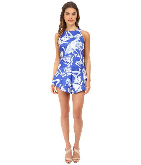 StyleStalker - Blue Jasmine Romper (Blue Fresh Floral) Women
