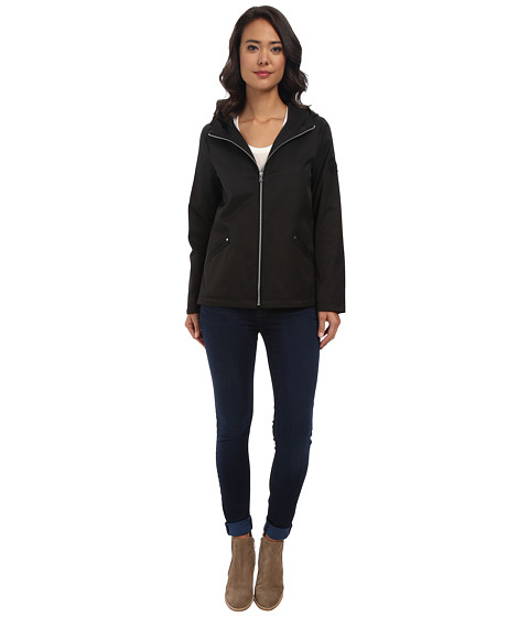 LAUREN by Ralph Lauren - Hooded Fish Tail Anorak (Black) Women's Coat