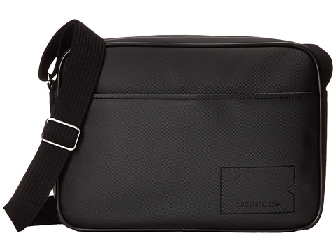 Lacoste - Classic Airline Bag (Black) Messenger Bags