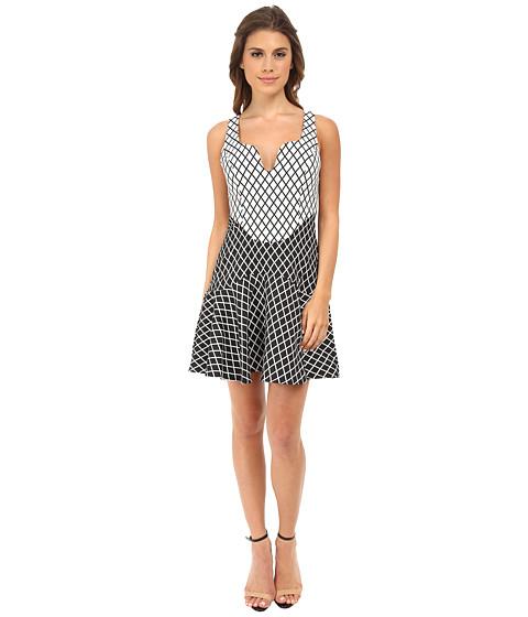 StyleStalker - Chronicle Dress (Black/White Grid) Women