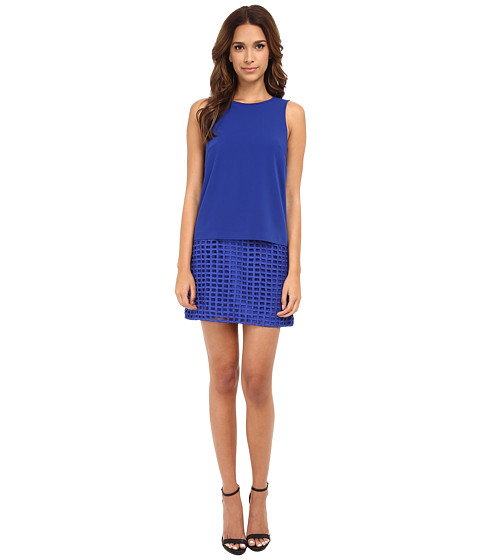 StyleStalker - Piano Shift Dress (Cobalt) Women's Dress