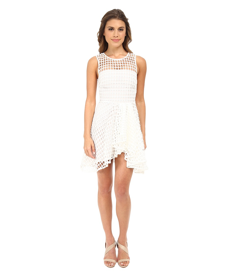 StyleStalker - Piano Flare Dress (White) Women's Dress