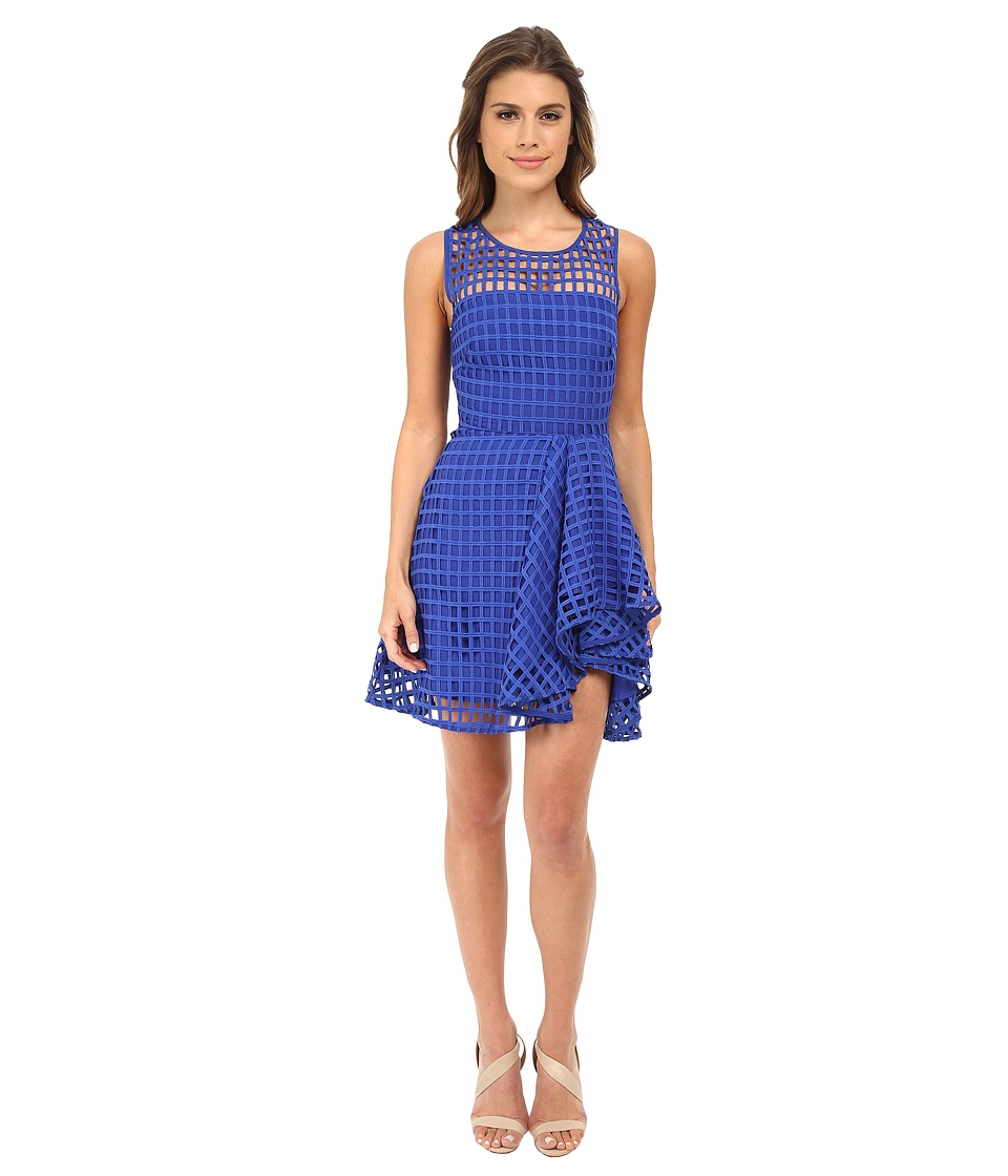 StyleStalker - Piano Flare Dress (Cobalt) Women's Dress