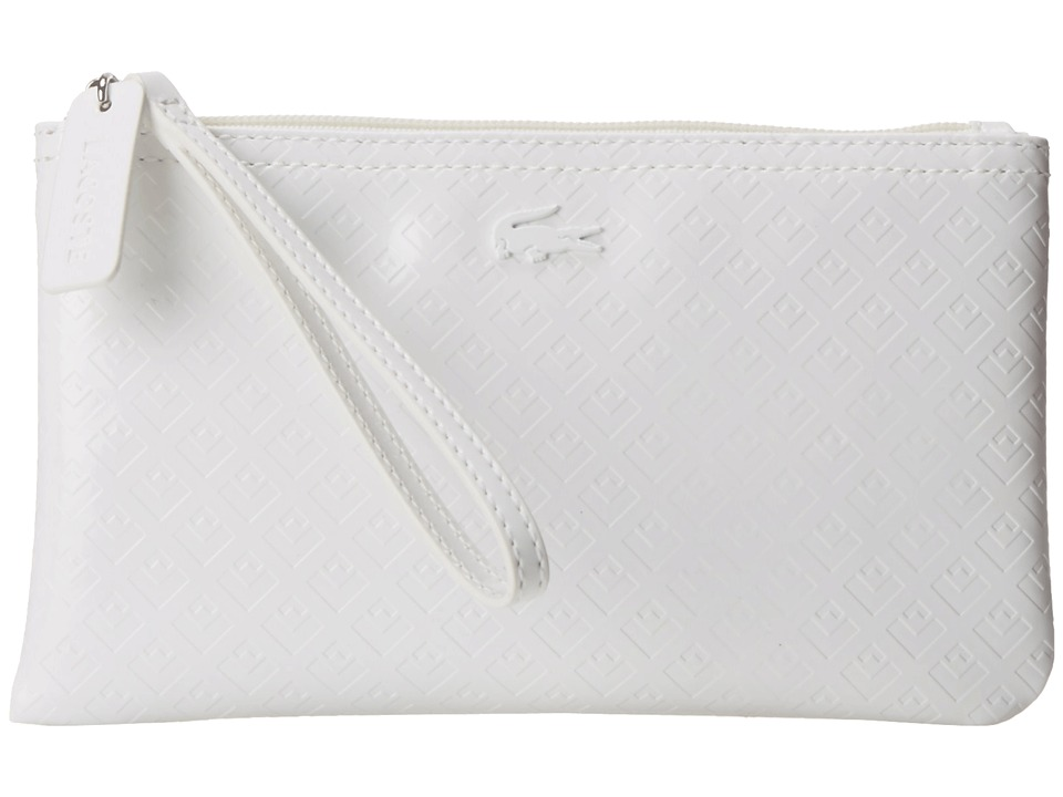 Lacoste - L.12.12 Glossy Clutch Bag (Light Gray) Clutch Handbags