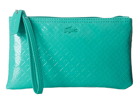 Lacoste - L.12.12 Glossy Clutch Bag (Porcelain Green) Clutch Handbags