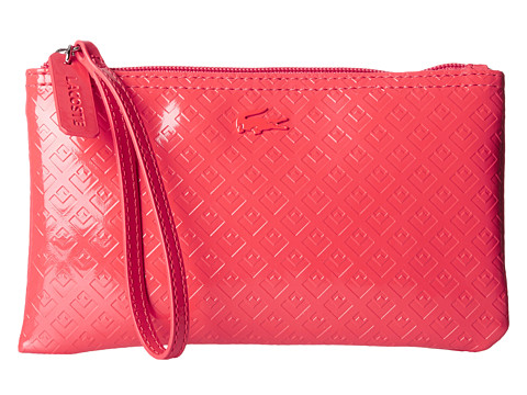 Lacoste - L.12.12 Glossy Clutch Bag (Hibiscus) Clutch Handbags