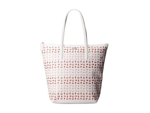 Lacoste - L.12.12 Concept Croc Vertical Tote Bag (Earth) Tote Handbags