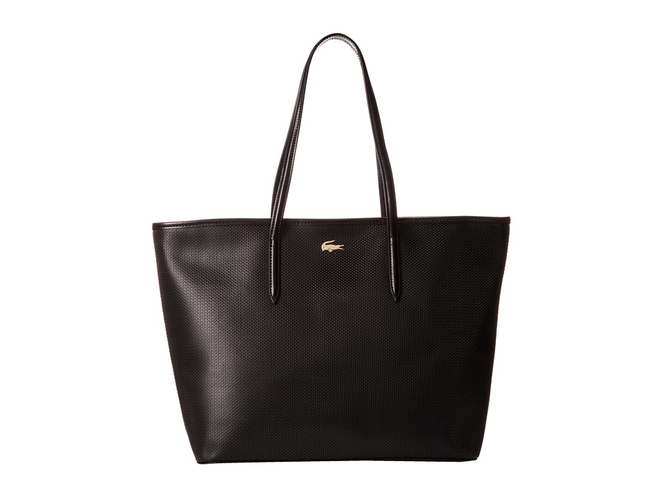 Lacoste - Chantaco Medium Tote (Black) Tote Handbags