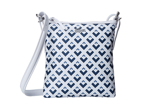 Lacoste - Nelly Flat Crossover Bag (Insigna Blue Moonlight) Cross Body Handbags