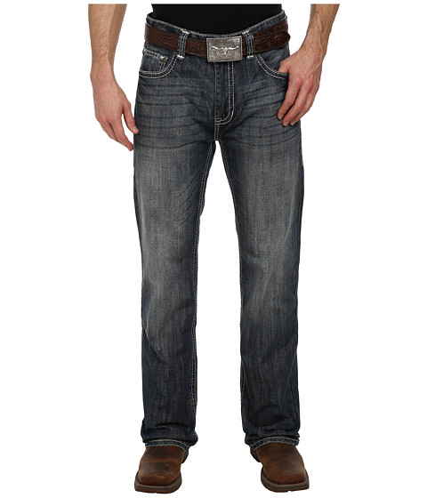 Rock and Roll Cowboy - Double Barrel Relax Straight in Dark Wash M0S1578 (Dark Wash) Men