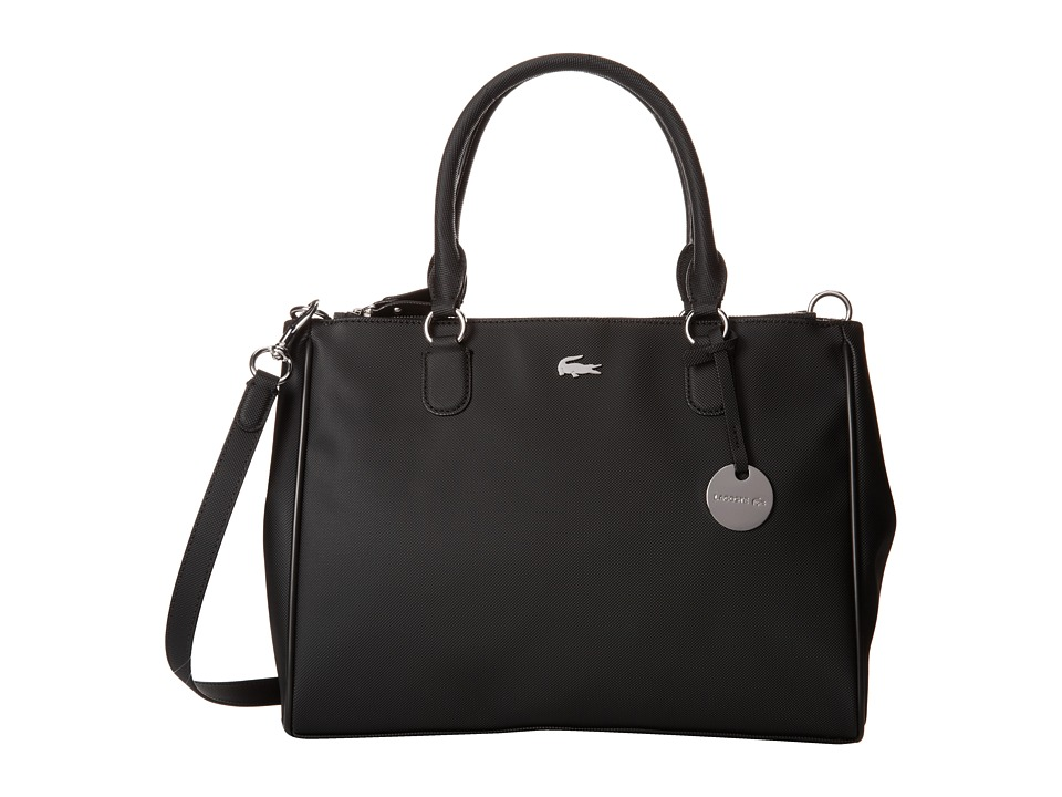 Lacoste - Daily Classic Medium Shopper Bag (Black) Tote Handbags