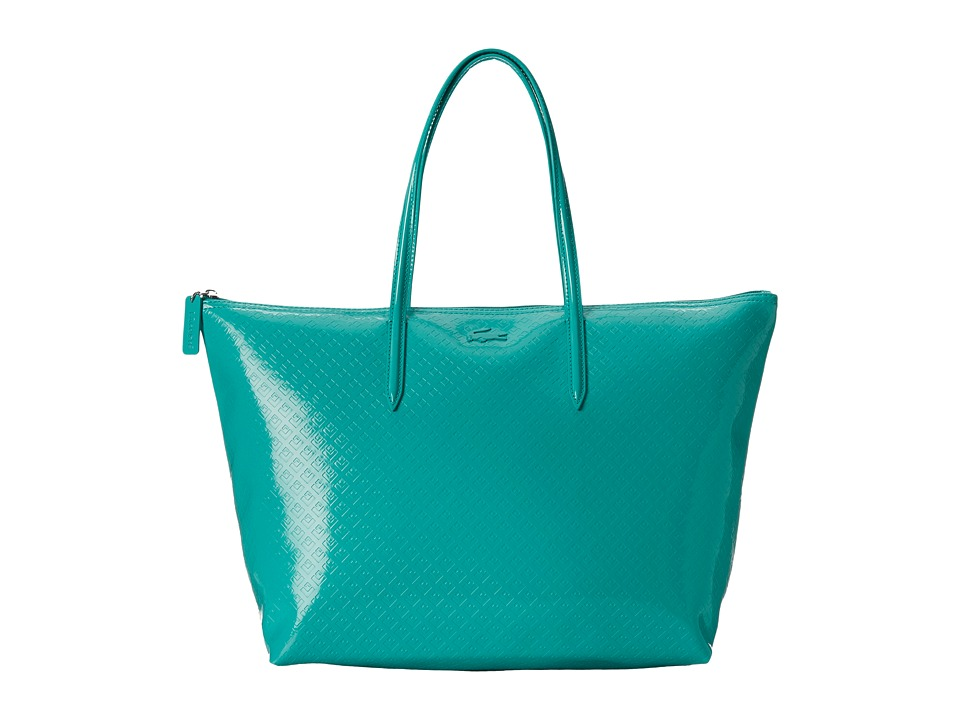 Lacoste - L.12.12 Glossy Large Shopping Bag (Porcelain Green) Handbags