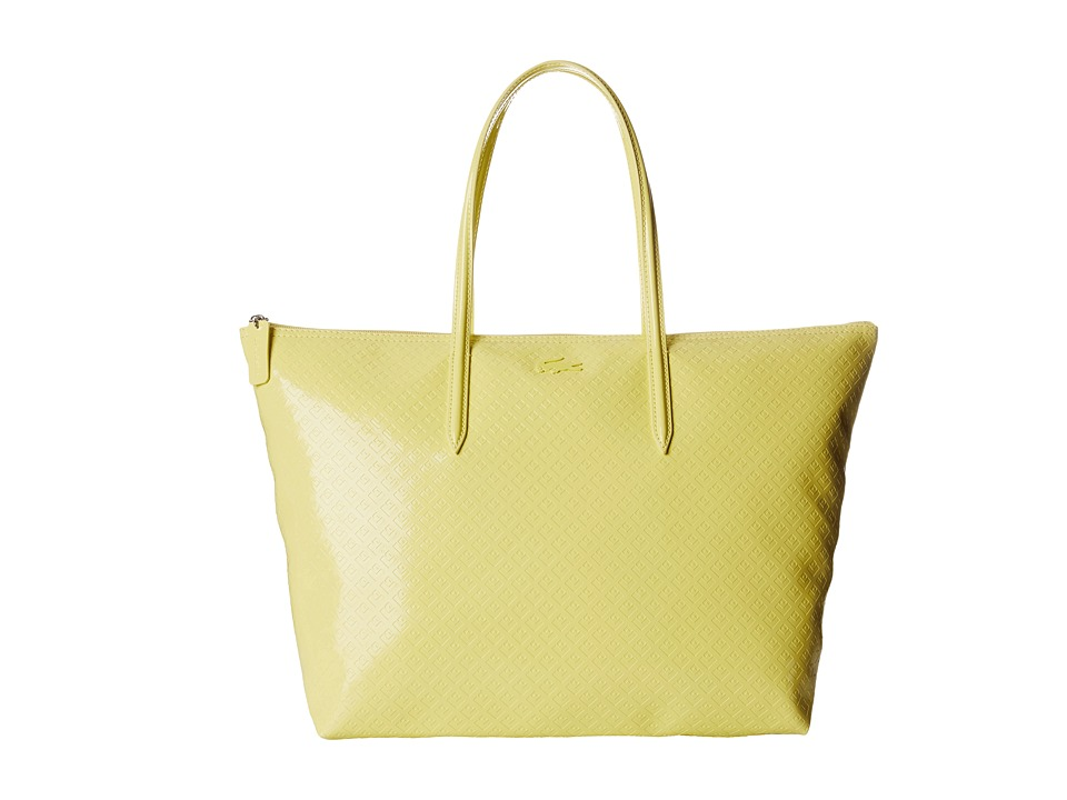 Lacoste - L.12.12 Glossy Large Shopping Bag (Yellow Cream) Handbags