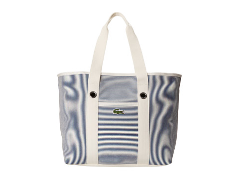 Lacoste - Summer Fantaisie Medium Shopping Bag (Moonlight Blue White) Handbags
