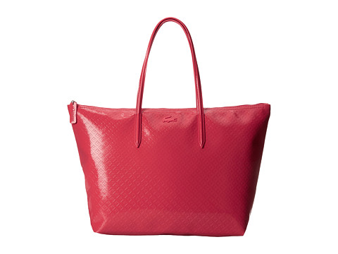 Lacoste - L.12.12 Glossy Large Shopping Bag (Hibiscus) Handbags