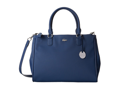Lacoste - Daily Classic Medium Shopper Bag (Insignia Blue) Tote Handbags