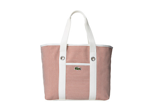Lacoste - Summer Fantaisie Medium Shopping Bag (Autumn Glaze White) Handbags