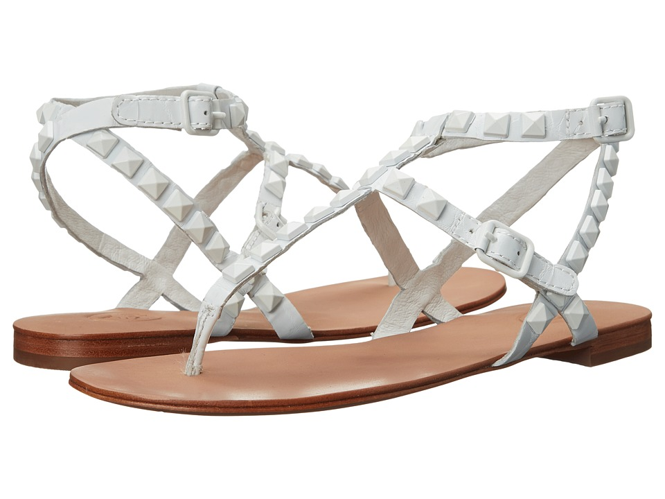 ASH - Mylo (White Gloss Crocco) Women's Sandals