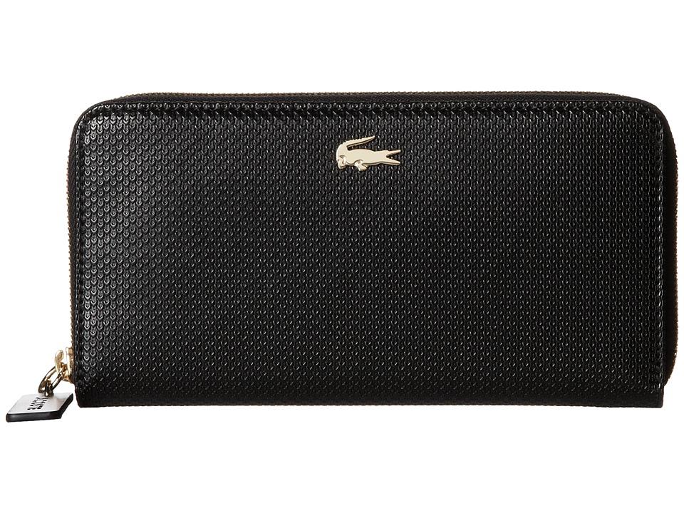 Lacoste - Chantaco Large Zip Wallet (Black) Wallet Handbags