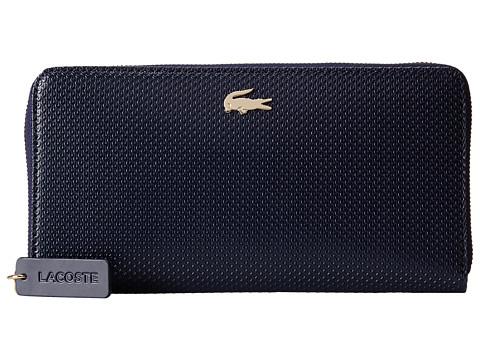 Lacoste - Chantaco Large Zip Wallet (Peacoat) Wallet Handbags