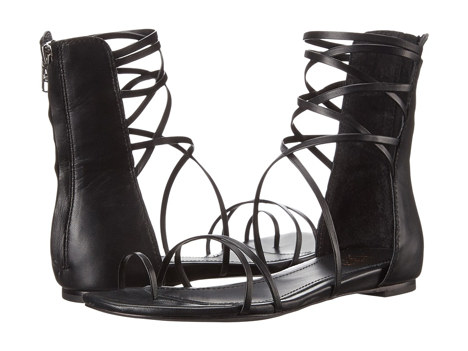 ASH - Octopus (Black/Black Nappa Wax/Nappa Wax) Women's Sandals