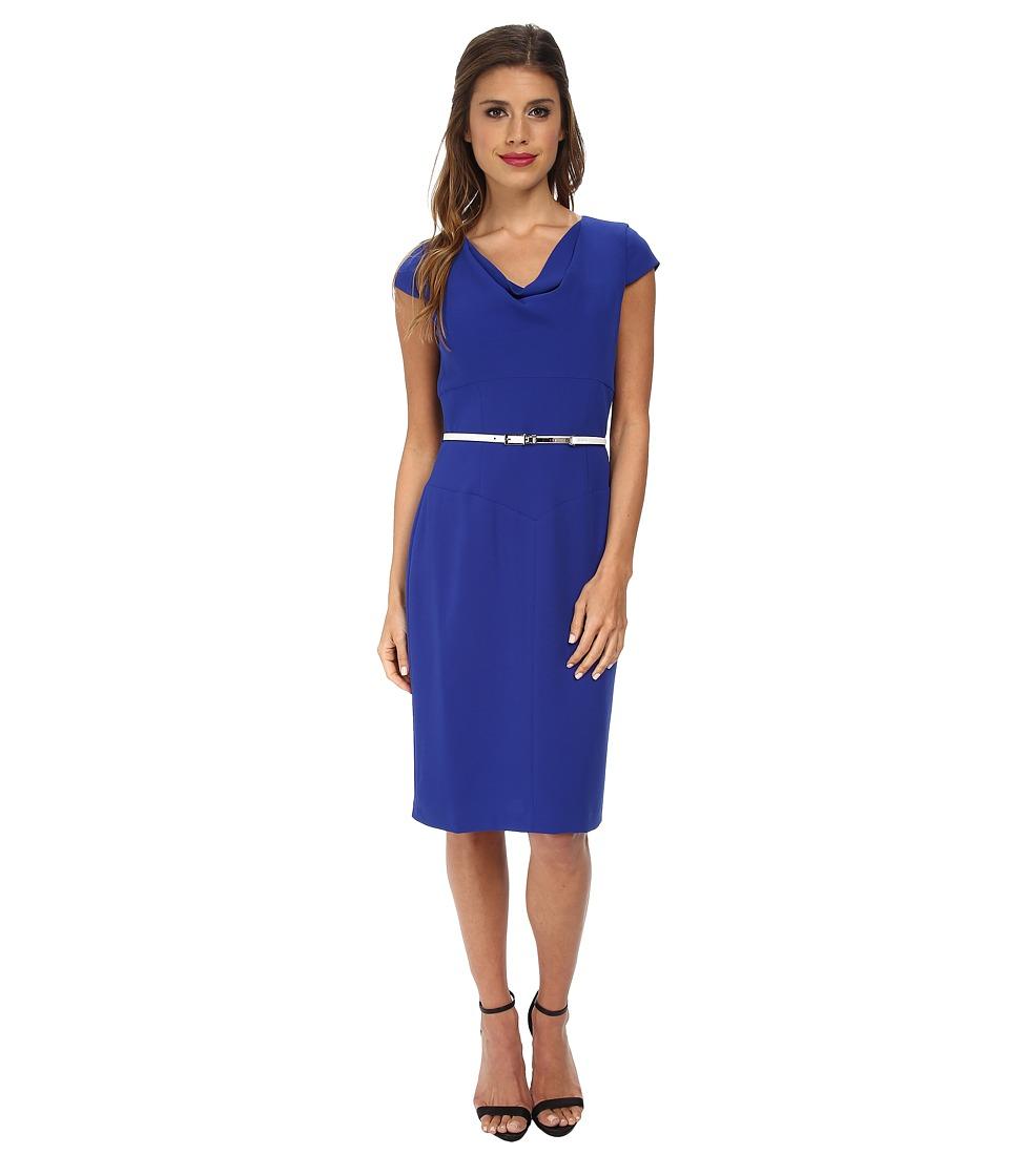 Calvin Klein - Cowl Neck Sheath CD5E1523 (Atlantis) Women's Dress