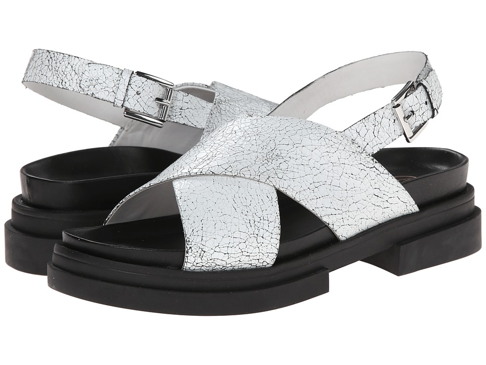ASH - Sue (White Black/Black Crack/Nappa Wax) Women's Sandals