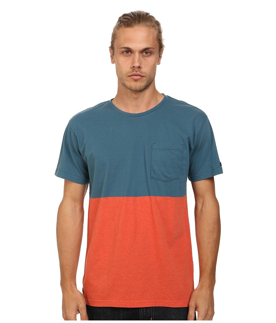 RVCA - Halfway Crew (Mallard Blue) Men's T Shirt