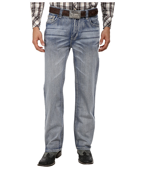 Rock and Roll Cowboy - Double Barrel Relax Straight in Light Wash M0S1582 (Light Wash) Men