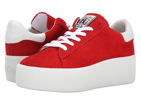 ASH - Cult (Coral/White Calf Suede/Nappa Wax) Women's Lace up casual Shoes