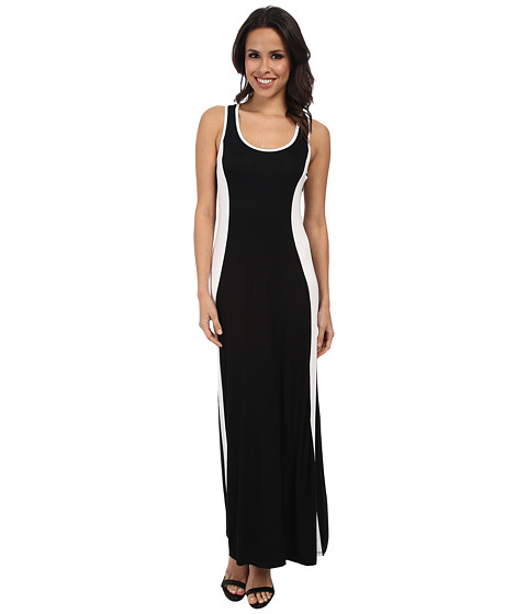 Calvin Klein - Rayon Span Maxi CD4N13K4 (Black/White) Women's Dress
