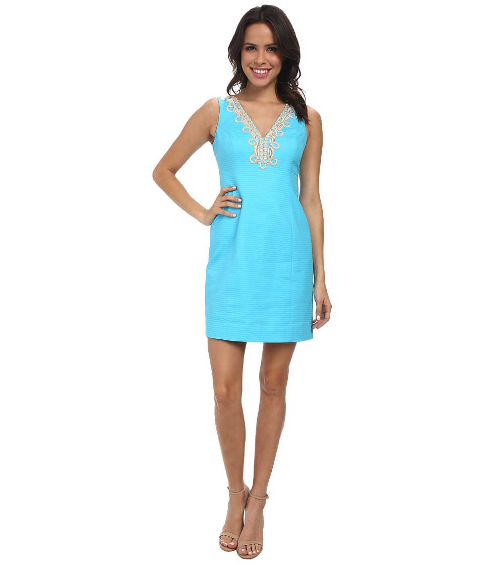 Lilly Pulitzer - Bentley Shift Dress (Searulean Blue) Women