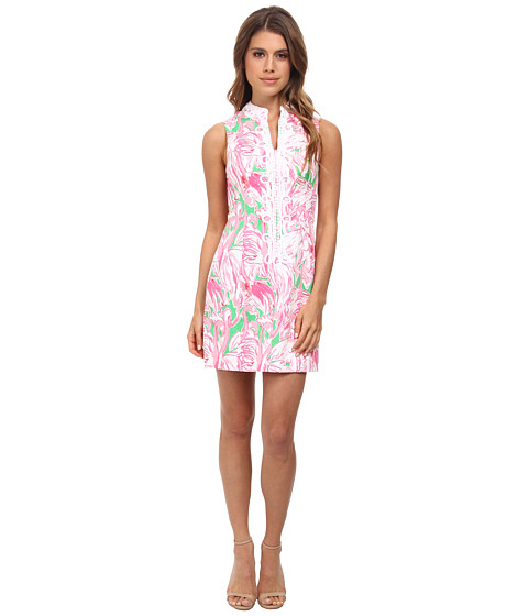 Lilly Pulitzer - Alexa Shift Dress (Prep Green Pink Colony) Women's Dress