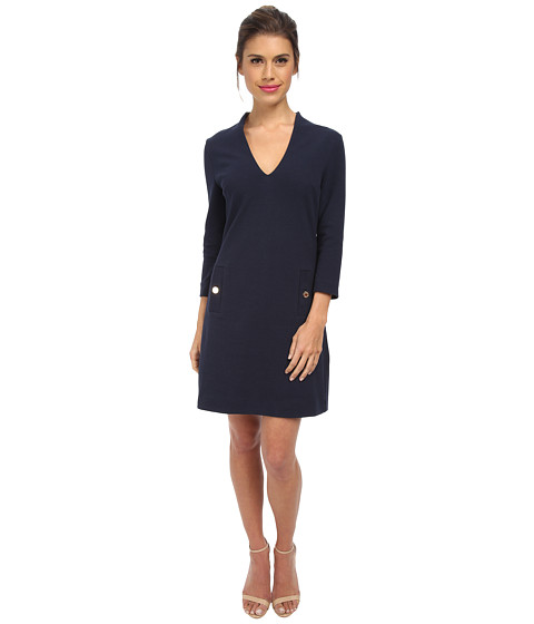 Lilly Pulitzer - Charlena Shift Dress (True Navy) Women's Dress