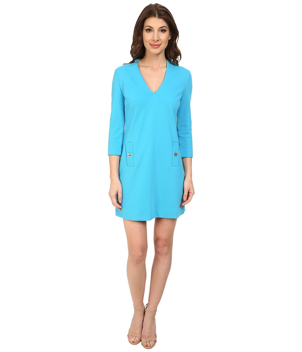 Lilly Pulitzer - Charlena Shift Dress (Ariel Blue) Women's Dress