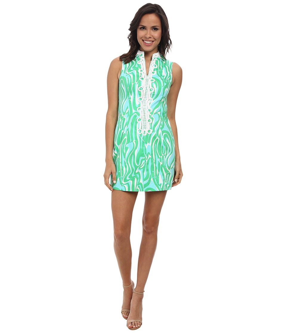 Lilly Pulitzer - Alexa Shift Dress (Resort White Finders Keepers) Women's Dress