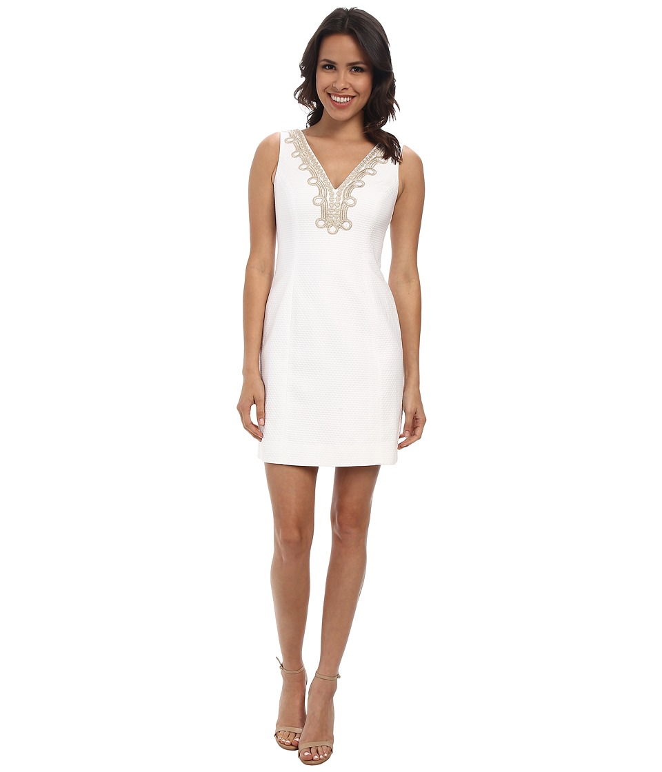 Lilly Pulitzer - Bentley Shift Dress (Resort White) Women's Dress