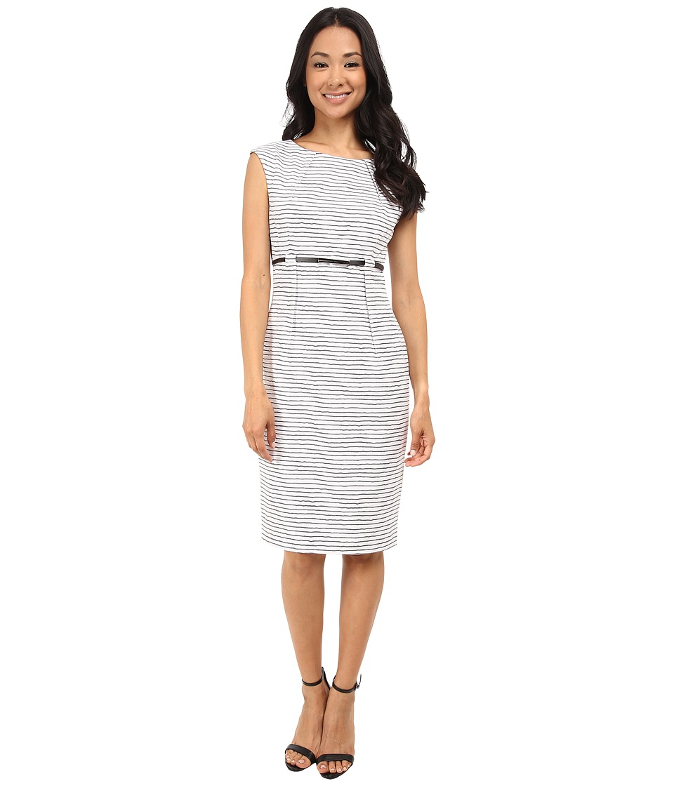 Calvin Klein - Empire Waist Sheath CD5XNBD6 (Black/Cream) Women's Dress