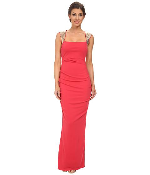 Calvin Klein - Jersey Gown with Sequin Shoulder CD5B1775 (Watermelon) Women
