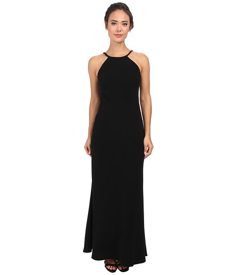 Calvin Klein - Halterneck Gown CD5B1850 (Black) Women's Dress