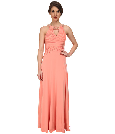 Calvin Klein - Draped Bodice with Neck On Beading On Neck CD5B1832 (Peach) Women