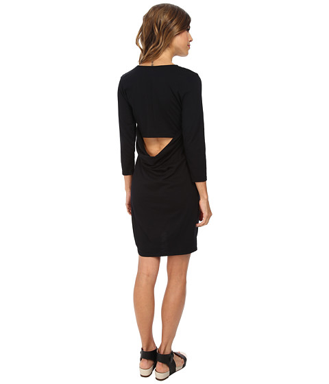 Michael Stars - 3/4 Sleeve Tee Dress (Black) Women's Dress