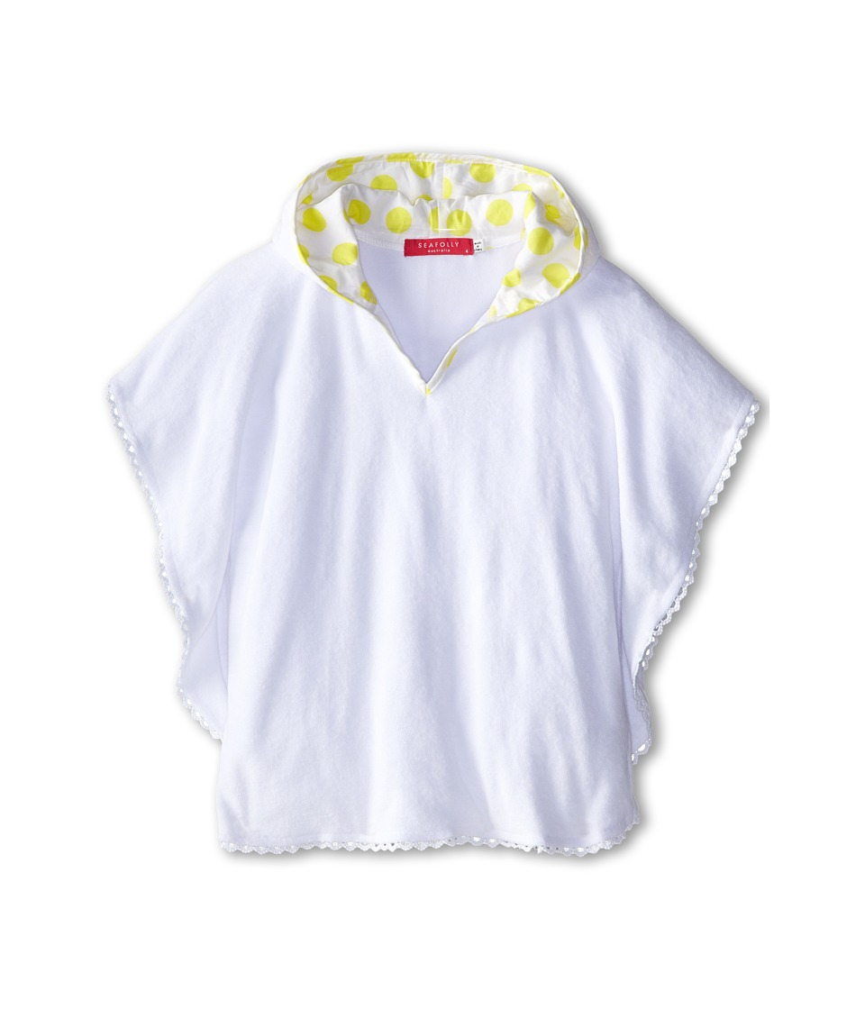 Seafolly Kids - Roses Are Pink L/S Rashie (Infant/Toddler/Little Kids) (White) Girl's Swimwear