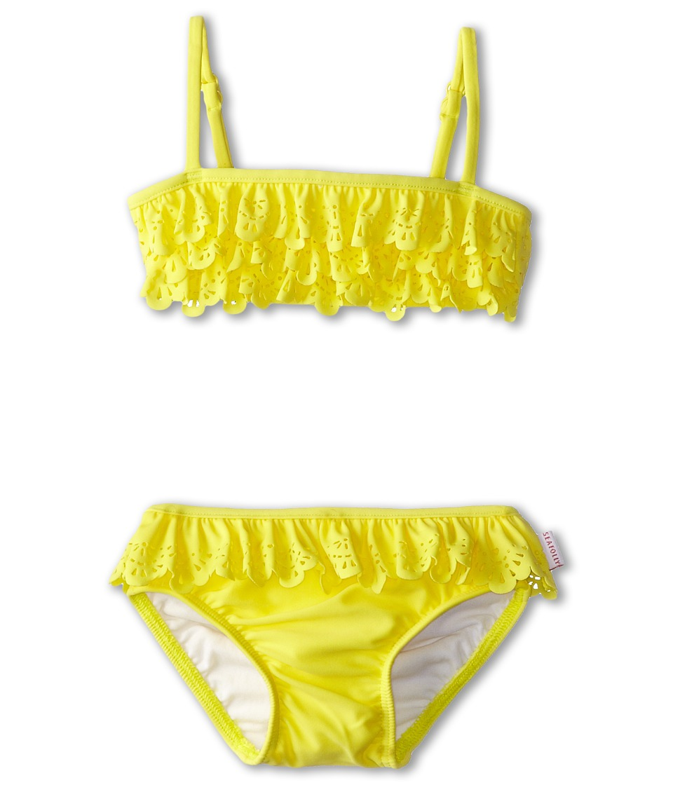 Seafolly Kids - Flutter Bye Mini Tube Bikini Set (Infant/Toddler/Little Kids) (Lemon Drop) Girl's Swimwear Sets