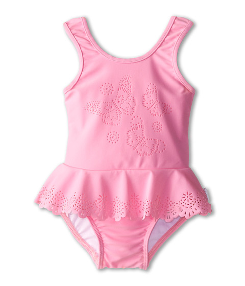 Seafolly Kids - Flutter Bye Peplum Tank (Infant/Toddler/Little Kids) (Blush Pink) Girl's Swimsuits One Piece
