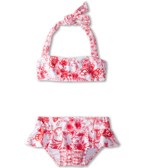 Seafolly Kids - Tea House Mini Tube Bikini Set (Infant/Toddler/Little Kids) (Oriental Red) Girl's Swimwear Sets
